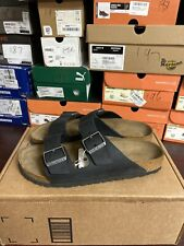 Birkenstock Arizona Black Leather Sandals Size 41 Eu N 207