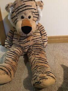 """Wilko Huge Tiger Lion Soft Toy Cuddly 30"""""""