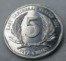 5 Cents 2004 East Caribian GOOD CONDITION
