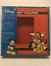 "Disney Vacation 8""x8"" Shadow Box & 2 Sided Scrapbook Page Picture Frame"