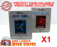1x VECTREX CIB GAME - CLEAR PLASTIC PROTECTIVE BOX PROTECTOR SLEEVE CASE