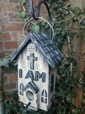 Holy Vintage Rustic Gothic Jesus Church Birdhouse