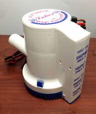 Marine Boat 500 GPH ABS Automatic Bilge Pump 12V Straight Hose Adaptor