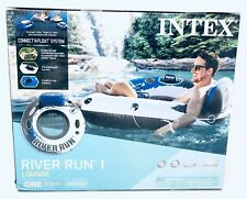 Intex 6pk River Run I Inflatable Tubes 1 Person Blue & White Six Pack 58825 New