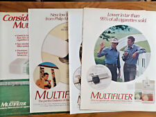 1971 Philip Morris Multifilter Cigarette Ad  Kentucky  Lot of 5 Different Ads