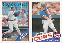 Jody Davis lot of 2 different Chicago Cubs baseball cards