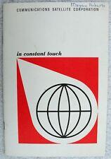 Communications Satellite Corporation Washington Dc Undated Booklet
