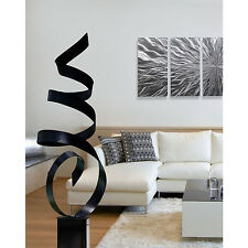 Large Black Outdoor Yard Sculpture, Modern Abstract Metal Art Decor by Jon Allen