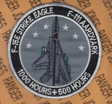 """USAF 391st Fighter Squadron 1000 + 500 Hours F-15E F-111 FS 4"""" patch"""