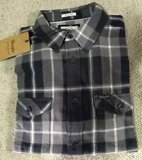 WRANGLER jeans camicia Scacchi Western Quadri GrigioTg.L