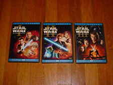 STAR WARS PREQUEL TRILOGY Episodes 1 2 & 3 - 6-Disc DVD Set Full Screen Edition