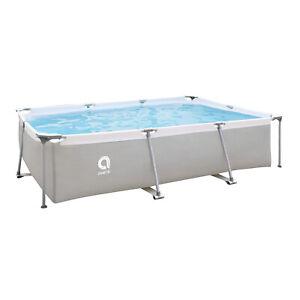 JLeisure 17773 10 x 6.5 Ft Above Ground Rectangular Steel Frame Swimming Pool