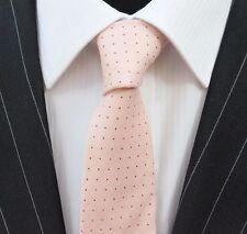 Tie Neck tie Slim Pale Salmon Pink Quality Cotton T6131