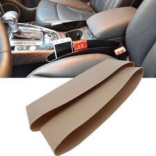 2 Pcs Beige Catch Catcher Storage Organizer Caddy Box Car Seat Slit Pocket Cool