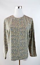 Vintage Valentino Atelier Silk Abstract Print Blouse Shirt Top One Size BK12