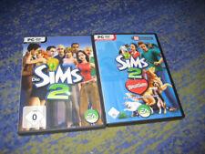 2 x Die SIMS 2 - Haustiere und Hauptspiel Sims 2 Starterpack  Paket für PC