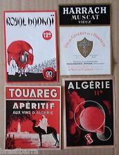4 ETIQUETTES ANCIENNES DE VINS ALGERIENS Années 50