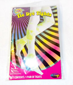 Yellow Tie Dye Tights Womens Halloween Costume Accessory OSFM NIP