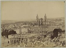 Nancy panorama avec cathédrale Vintage albumine vers 1880