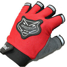 Outdoor Sports Half Gloves Climbing Cycling OPTION Color-Red One Size