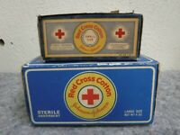 Two Vintage Opened Boxes of Red Cross Cotton-Johnson & Johnson