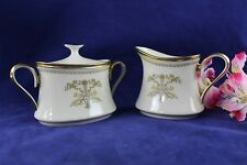 Lenox China CASTLE GARDEN Cream and Sugar Bowl With Lid Excellent