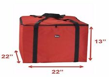 """NEW Insulated Thermal Pizza Food Pizza Delivery Bag, 22"""" x 22"""" x 13"""""""