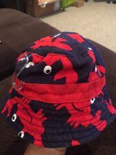 Infant Bucket Hat 0-9 Months  Blue & Red