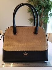 Kate Spade New York Cameron Street Straw Maise Natural/ Black satchel
