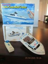Vintage Radio Shack Radio-Control Toy Boat Cruiser with box and instructions