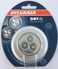NIP Sylvania Dot It Bright White LED Self Adhesive Tap Light Car Boat Closet etc