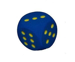 Giant Blue Foam Dice - 10cm, 10x10x10
