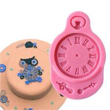Forma de reloj 3D hornear Sugarcraft moldeDIY Candy Clay chocolate de siliconaSP