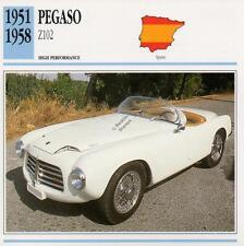 1951-1958 PEGASO Z102 Classic Car Photo/Info Maxi Card