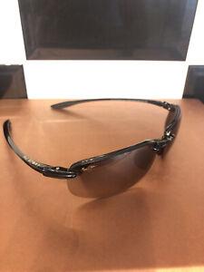 Maui Jim MJ-407-02 Ho'okipa Polarized Rimless Wrap Sunglasses Gloss Black Sport