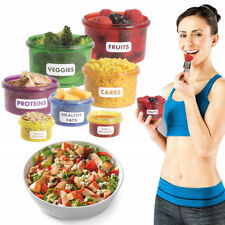 7Pcs Portion Control Food Box Prep Storage Container Fitness Meal Eating Plan