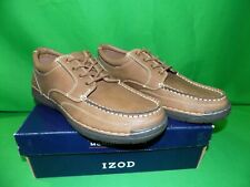IZOD Mens Freeman Oxford Shoes Dark Tan Size 9 Med New in Box