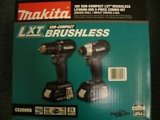 Makita CX200RB 18V LXT Li-Ion Sub-Compact 2pc Combo Kit Cordless Drill & Impact