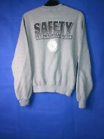 vtg 90s 00s grey jerzees safety medium jogging sports sweatshirt jumper