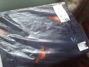Joules River Partridge Schal One Size dunkelblau NEU/ungetragen mit Etikett Unisex