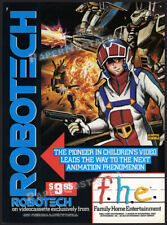 ROBOTECH__Original 1986 Print AD / ADVERTISEMENT / anime TV series vid. promo
