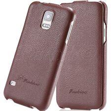 Samsung Galaxy S6+S6 EDGE S5 NEO S4 S3 Phone Genuine Leather Flip Case Cover New