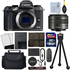 Canon EOS M5 Mirrorless Digital Camera with 15-45mm STM Lens Black + 16GB Kit
