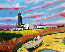 DUNGENESS LIGHTHOUSES 1&2 LIMITED EDITION PRINT BY MICHAEL PRESTON