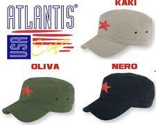 CHE GUEVARA Cappello ARMY berretto STELLA ROSSA cappellino ATLANTIS in 3 COLORI