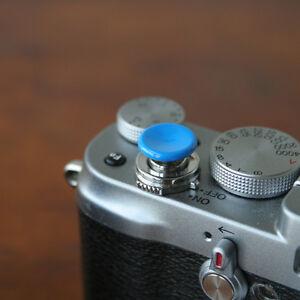 Blue Medium Concave Soft Release Button for Leica M3 MP M8 M9 X100 Nikon Canon