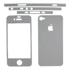 adesivo in fibra di carbonio silver iPhone 4 4S