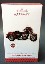 Hallmark 2013 Harley Davidson 2011 Street Glide Trike Motorcycle Ornament NEW
