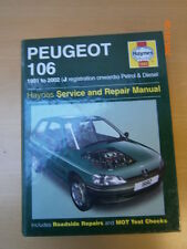 HAYNES Peugeot 106 Service and Repair Manual Hardback 1991 To 2002 J reg onwards