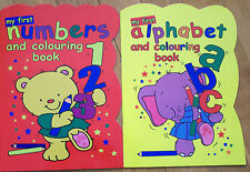MY FIRST NUMBERS & ALPHABET COLOURING BOOKS LEARN NUMBERS & LETTERS THE COLOUR